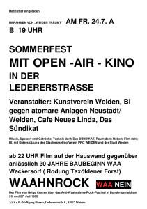 WAAhnrock - Einladung Open Air 24.07.2015 Herzlichst eingeladen